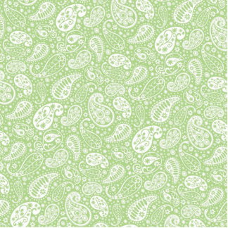 Light Green Paisley Floral Pattern Statuette