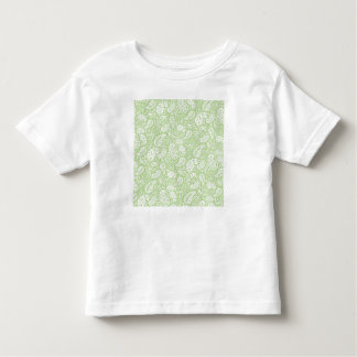 Light Green Paisley Floral Pattern Toddler T-shirt