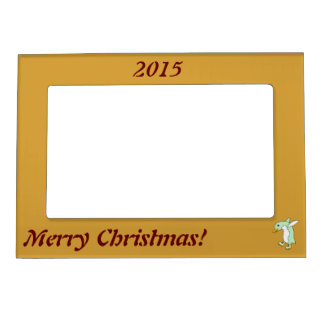 Light Green Penguin with Blue & Yellow Ice Skates Magnetic Picture Frame