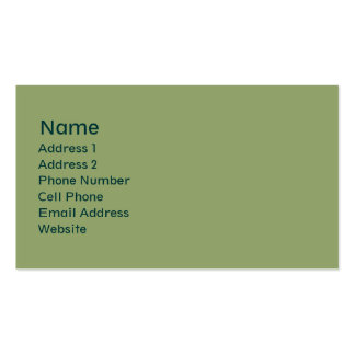 light green plain Double-Sided standard business cards (Pack of 100)