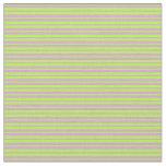 [ Thumbnail: Light Green & Plum Stripes Pattern Fabric ]