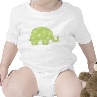 Light green polka dot elephant shirt