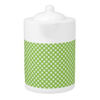 Light Green Polka Dots Teapot