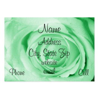 light green profile card large business card