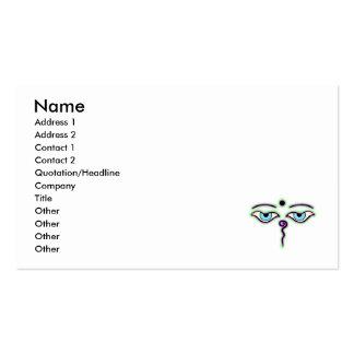 Light Green Purple Buddha Eyes.png Business Card Template