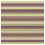 [ Thumbnail: Light Green & Purple Colored Pattern Fabric ]