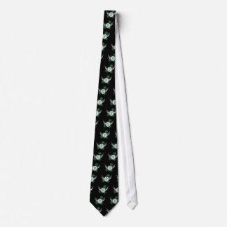 Light Green Ribbon And Wings Celiac Disease Neck Tie
