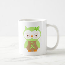 Light Green Ribbon Awareness Owl Coffee Mug
