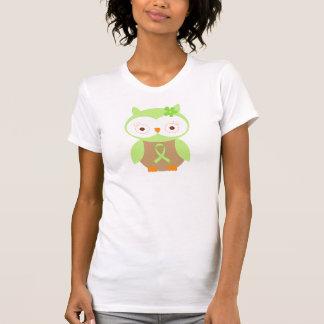Light Green Ribbon Awareness Owl Tee Shirt