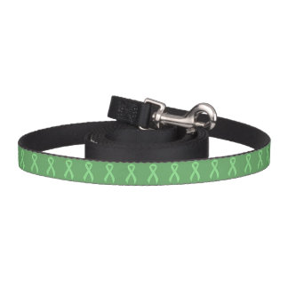 Light Green Ribbon Support Awareness Pet Leash