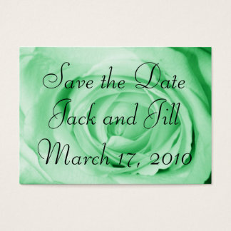 light green, Save the Date Business Card