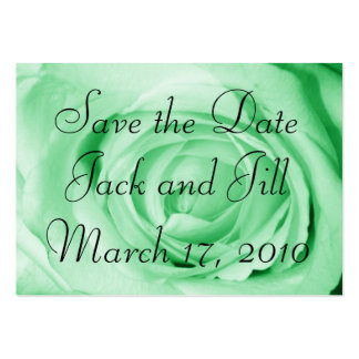 light green, Save the Date Large Business Card