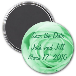 Light Green Save the Date Magnet