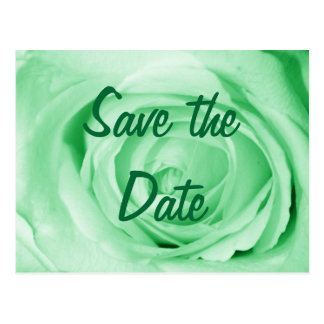 Light Green Save the Date Postcard