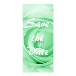 Light Green Save the Date Personalized Rack Card