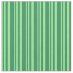 [ Thumbnail: Light Green & Sea Green Colored Pattern Fabric ]