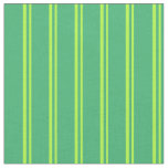 [ Thumbnail: Light Green & Sea Green Striped Pattern Fabric ]