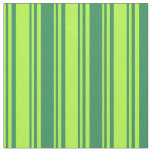 [ Thumbnail: Light Green & Sea Green Stripes/Lines Pattern Fabric ]