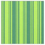 [ Thumbnail: Light Green & Sea Green Stripes/Lines Pattern Fabric ]
