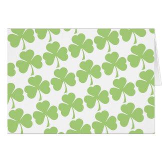 Light Green Shamrock Pattern Card
