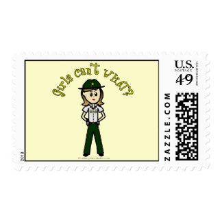 Light Green Sheriff Girl Postage Stamp