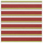 [ Thumbnail: Light Green, Sienna, Gray, Mint Cream & Dark Red Fabric ]