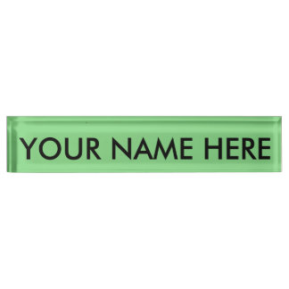 LIGHT GREEN (solid color coloration, dude!) ~ Desk Name Plate