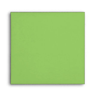Light Green Square Scrollwork Monogram Envelopes