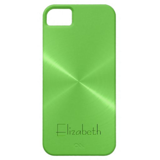 Light Green Stainless Steel Metal Look iPhone 5 Cover