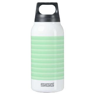 Light Green Stripe Pattern. Insulated Water Bottle