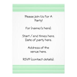 Light Green Stripe Pattern Invitations