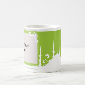 Light Green Swirl Mosque Photo Mug