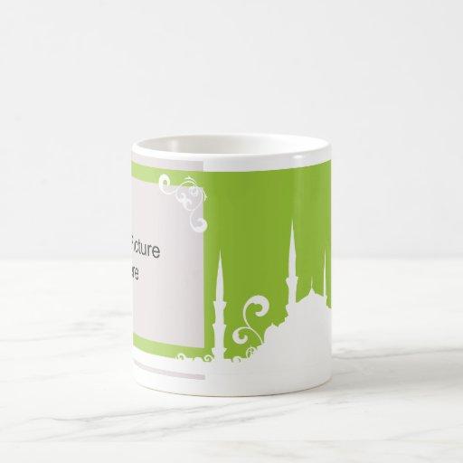Light Green Swirl Mosque Photo Mug