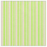 [ Thumbnail: Light Green & Tan Pattern Fabric ]