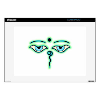 """Light Green teal Buddha Eyes.png Decal For 15"""" Laptop"""
