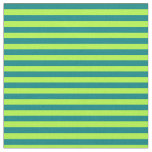 [ Thumbnail: Light Green & Teal Colored Stripes Fabric ]