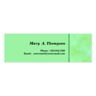 Light green  texture side border Double-Sided mini business cards (Pack of 20)