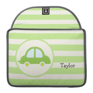 Light Green Toy Car Sleeves For MacBook Pro