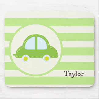 Light Green Toy Car Mouse Pad
