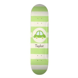 Light Green Toy Car Skateboard Deck