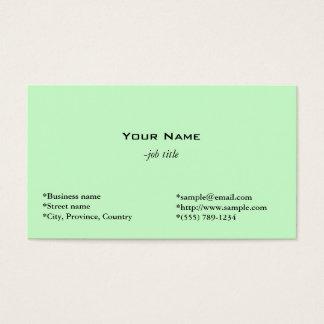 light green tulip flower personal business card