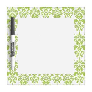 Light Green Vintage Damask Pattern 2 Dry-Erase Board