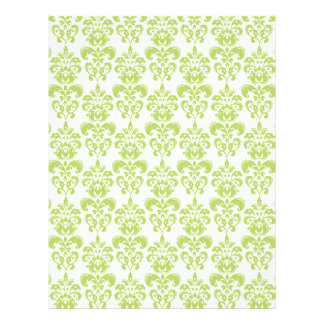 Light Green Vintage Damask Pattern 2 Flyer