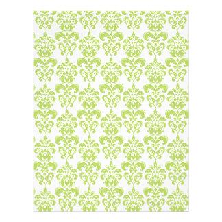 Light Green Vintage Damask Pattern 2 Flyer