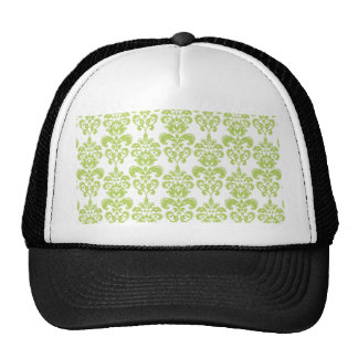 Light Green Vintage Damask Pattern 2 Trucker Hat