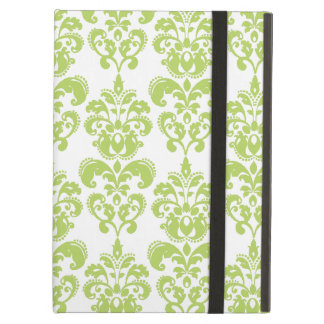 Light Green Vintage Damask Pattern 2 iPad Air Covers