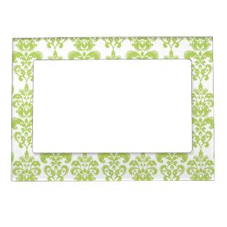 Light Green Vintage Damask Pattern 2 Magnetic Photo Frame