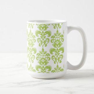 Light Green Vintage Damask Pattern 2 Mug