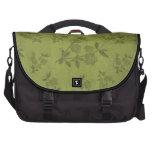 Light Green Vintage Wallpaper Laptop Messenger Bag