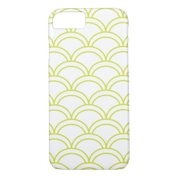 Beach Themed Light Green Waves Pattern Nautical iPhone 7 Case
